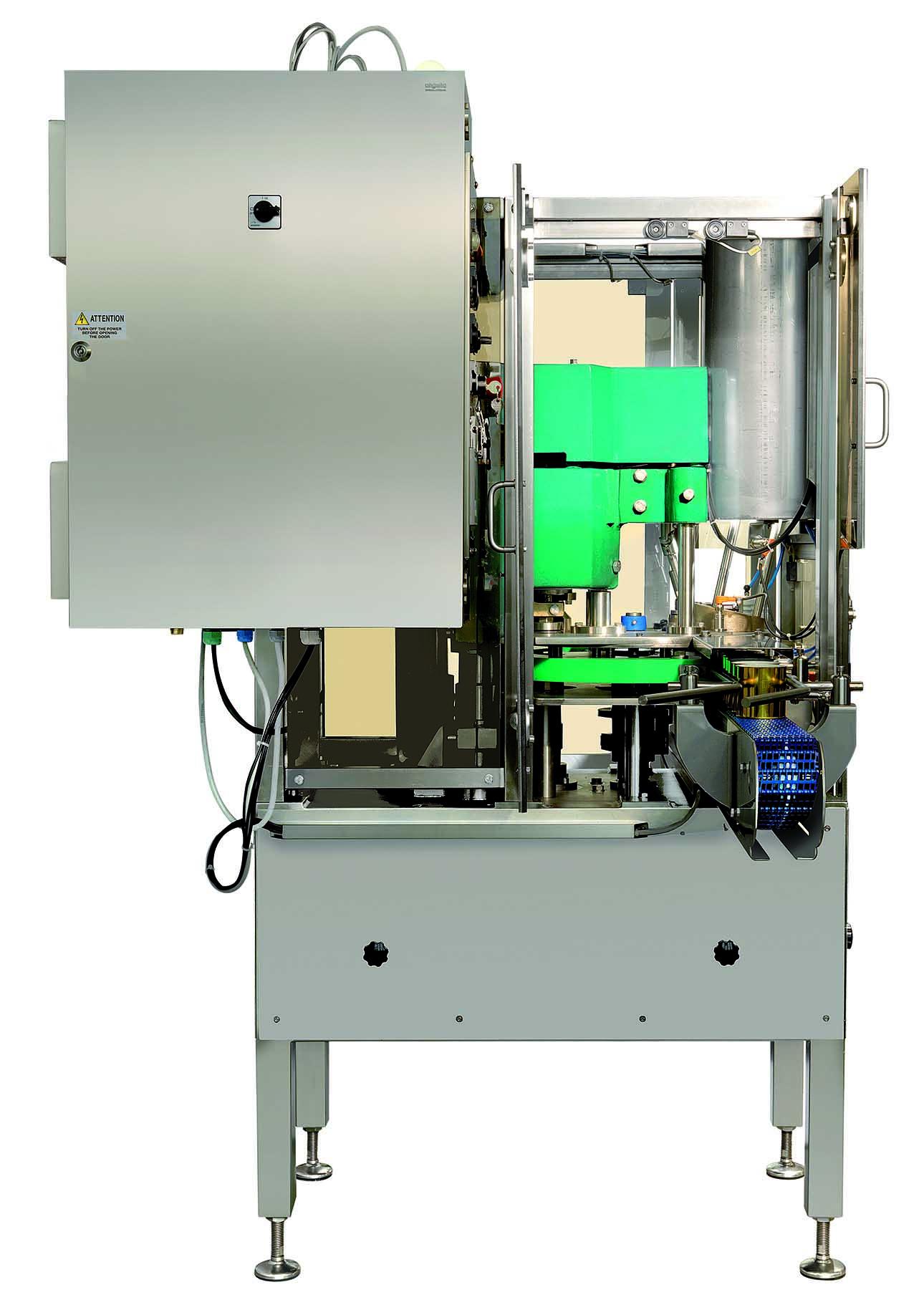 B40L macchina aggraffatrice automatica Bonicomm visione laterale